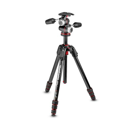 Manfrotto 190 Go! Carbon Fibre M Series 4 Section Tripod Kit with XPRO 3-way Head