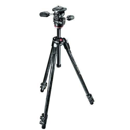 Manfrotto 290 XTRA Carbon Fibre 3 Section Tripod Kit with 3W Head