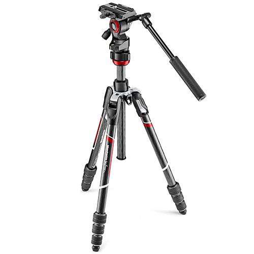 Manfrotto Befree live Carbon Fibre Tripod with Video Head