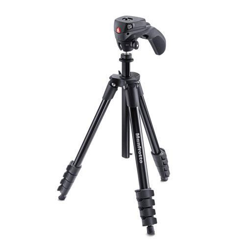 Manfrotto Compact Action Aluminum Tripod in black - Ex Display