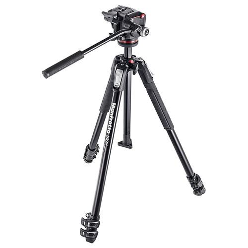 Manfrotto 190x Aluminium 3Section Tripod with a XPRO Fluid Head System