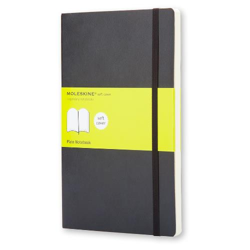 Moleskine Soft Large Plain Notebook Black