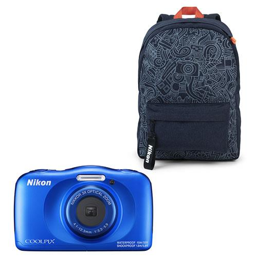 Nikon Coolpix W150 Camera Blue Backpack Kit
