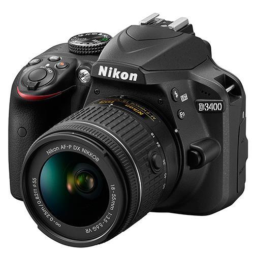 Nikon D3400 Digital SLR in Black with 18-55mm f/3.5-5.6 AF-P VR Lens
