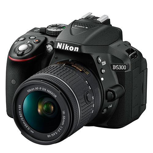 Nikon D5300 Digital SLR in Black with 18-55mm AF-P VR Lens