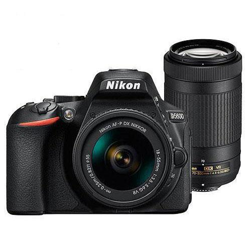 Nikon D5600 Digital SLR with 18-55 and 70-300mm AF-P VR Lenses - Exclusive to Jessops
