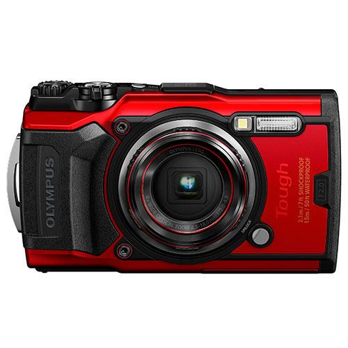 Olympus Tough TG-6 Digital Camera in Red - Ex Display