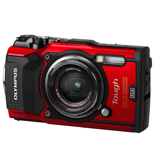 Olympus Tough TG-5 Digital Camera in Red Ex Display