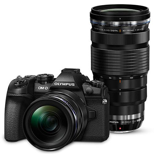 Olympus OM-D E-M1 Mark II Mirrorless Camera with 12-40mm and 40-150mm Lenses
