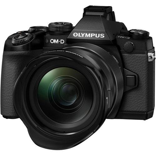 Olympus OM-D E-M1 Compact System Camera in Black + 12-40mm Lens - Ex Display