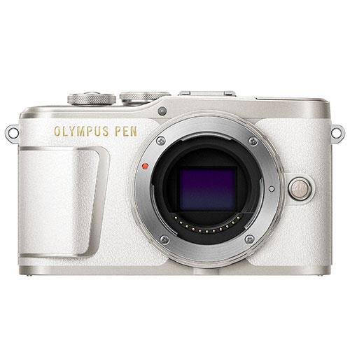 Olympus PEN E-PL9 Mirrorless Camera Body in White - Ex Display