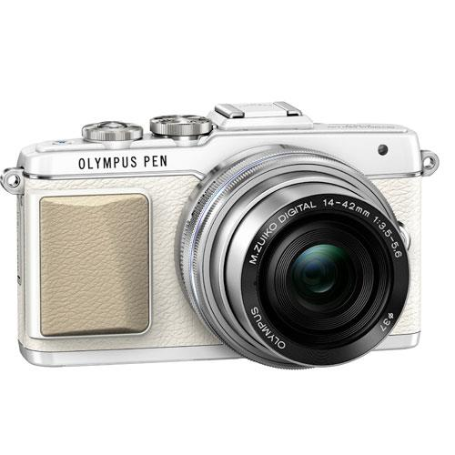 Olympus PEN E-PL7 Compact System Camera in White with 14-42mm EZ Lens - Ex Display