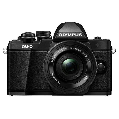 Olympus OM-D E-M10 Mark II Compact System Camera in Black with 14-42mm EZ Lens