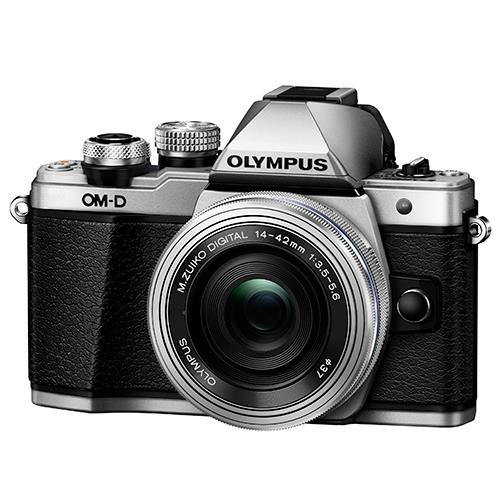 Olympus OM-D E-M10 Mark II Compact System Camera in Silver with 14-42mm EZ Lens