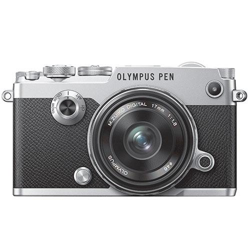 Olympus PEN-F Mirrorless Camera in Silver with 17mm f/1.8 Lens