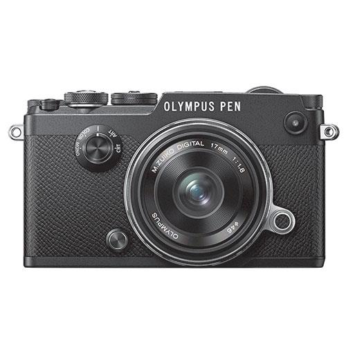 Olympus PEN-F Mirrorless Camera in Black with 17mm f/1.8 Lens