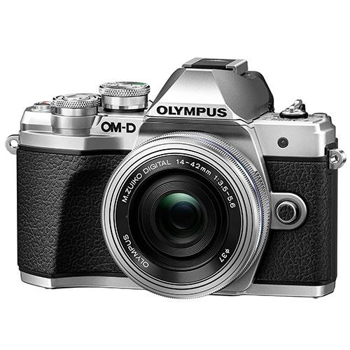 Olympus OM-D E-M10 Mark III Mirrorless Camera in Silver with 14-42mm EZ Lens
