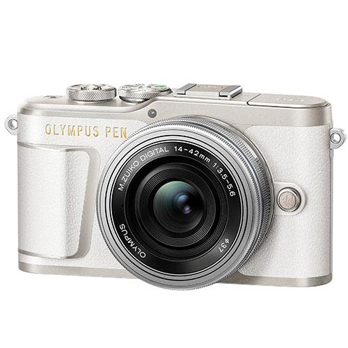 Olympus PEN E-PL9 Mirrorless Camera in White with 14-42mm EZ Lens