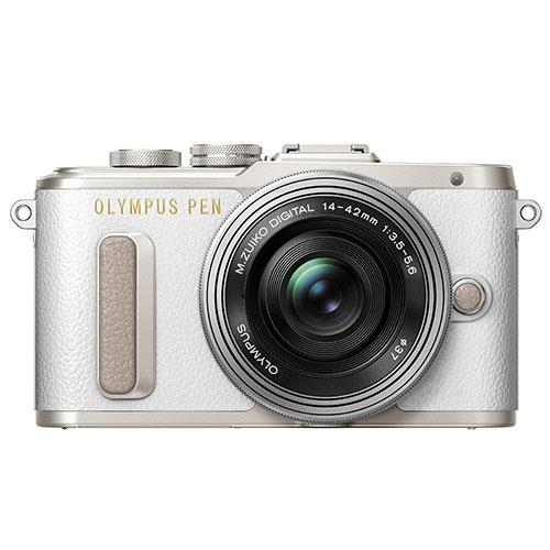 Olympus PEN E-PL8 Mirrorless Camera in White with 14-42mm EZ Lens - Ex Display