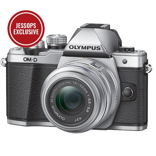 Olympus OM-D E-M10 Mark II Compact System Camera in Silver with 14-42mm Lens - Ex Display