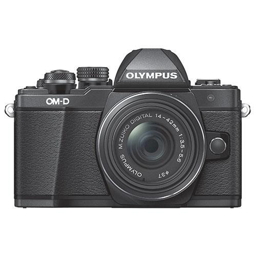 Olympus OM-D E-M10 Mark II Compact System Camera in Black with 14-42mm Lens - Ex Display