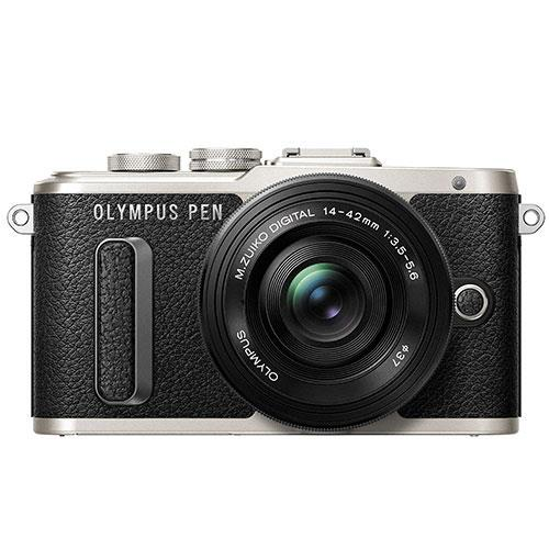 Olympus PEN E-PL8 Mirrorless Camera in Black with 14-42mm EZ Lens - Ex Display