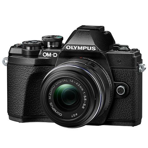 Olympus OM-D E-M10 Mark III Mirrorless Camera in Black with 14-42mm R Lens - Ex Display