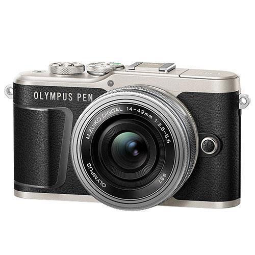 Olympus PEN E-PL9 Mirrorless Camera in Black with 14-42mm EZ Lens - Ex Display