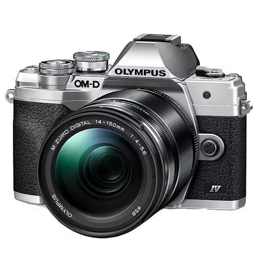 Olympus OM-D E-M10 Mark IV Mirrorless Camera in Silver with 14-150mm Lens