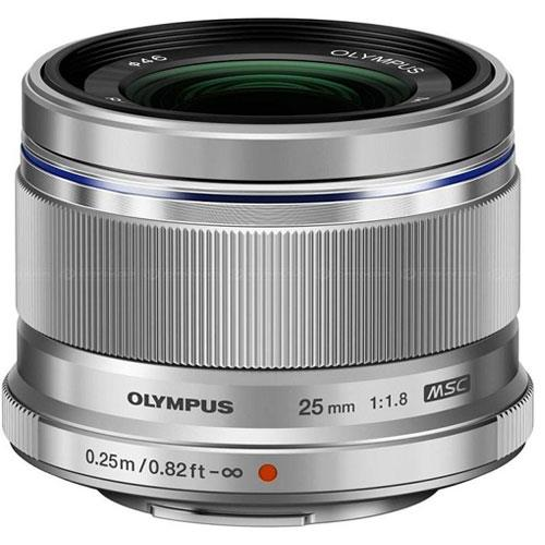 Olympus M.Zuiko Digital 25mm f/1.8 Lens in Silver