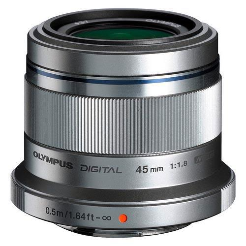 Olympus 45mm f/1.8 Micro Four Thirds Lens in Silver - Ex Display