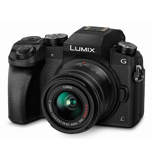 Panasonic Lumix DMC-G7 Compact System Camera in Black with 14-42mm Lens