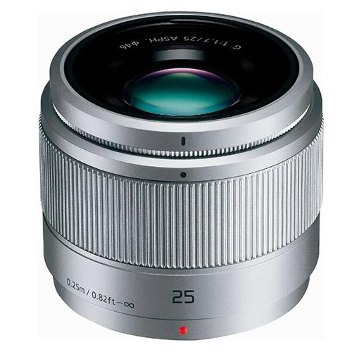 Panasonic 25mm f/1.7 Lens in Silver - H-H025E
