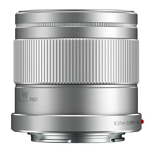 Panasonic 42.5mm f/1.7 Lens in Silver