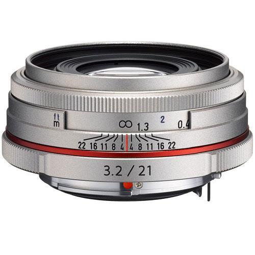 Pentax HD DA 21mm F3.2 AL Silver Lens