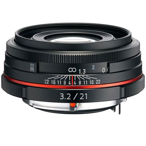 Pentax HD DA 21mm F3.2 AL Black Lens