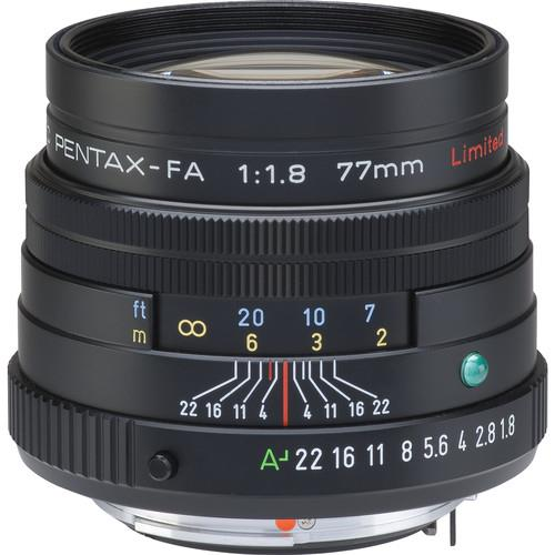 Pentax SMC-FA 77mm f/1.8 Limited Lens in Black