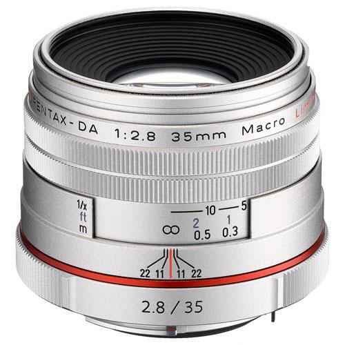 Pentax HD DA 35mm F2.8 Macro Lens in Silver