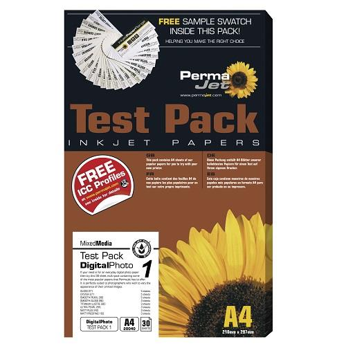 Permajet Digital Photo Test Pack - A4 Paper (30 sheets)