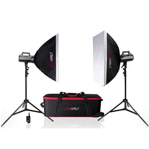 Pixapro LUMI 200 II Twin Softbox Kit