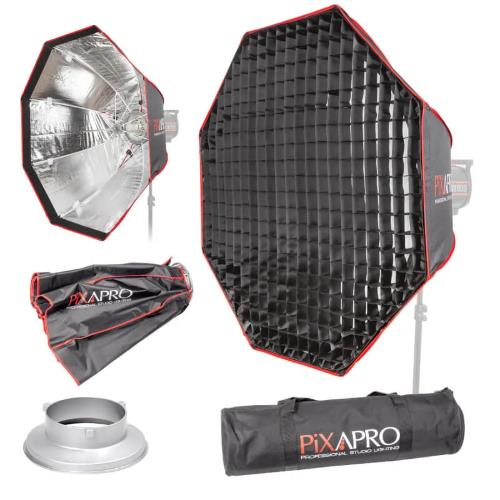 PiXAPRO 90cm Octagonal Easy-open Umbrella Softbox with 4cm Grid