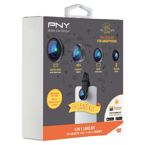 PNY 4-in-1 Smartphone Lens Kit