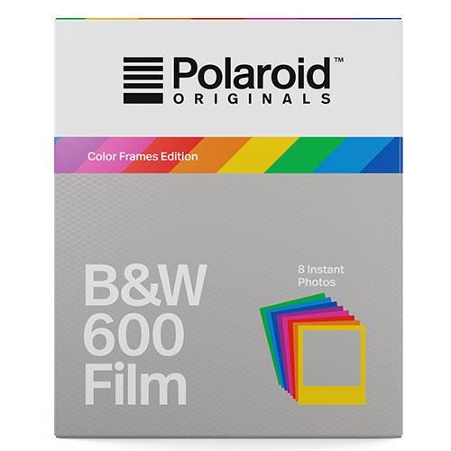 Polaroid Originals Black and White Film with Colour Frames for Polaroid 600 Camera