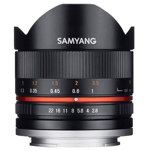 Samyang 8mm f2.8 UMC Fish-eye II Lens in Black - Fujifilm X Mount