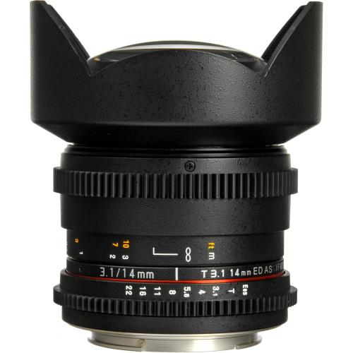 Samyang 14mm T3.1 ED AS IF UMC Lens - Canon EF Fit