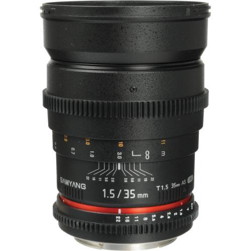 Samyang 35mm T1.5 Cine Lens - Canon EF Mount
