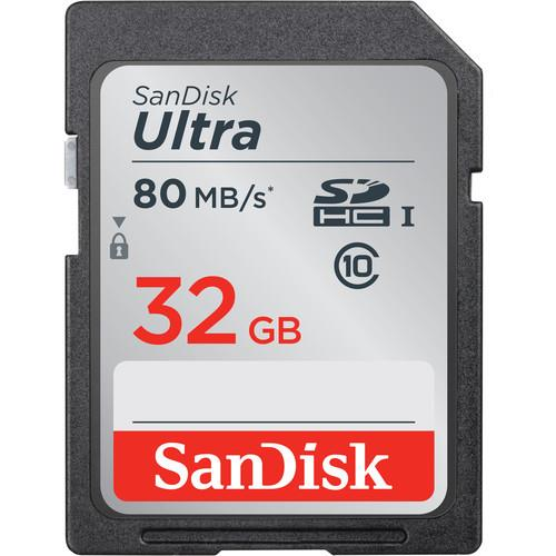 SanDisk 32GB Ultra UHS-I SDHC Memory Card