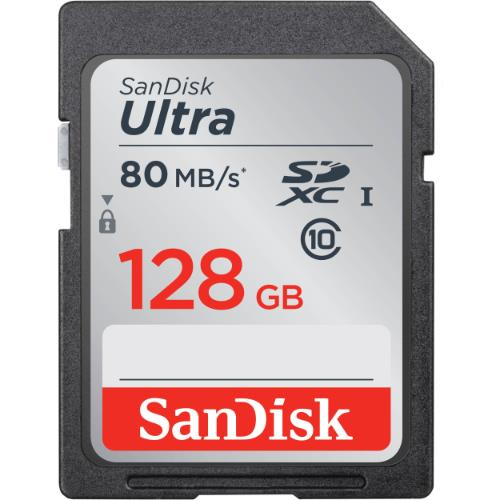 SanDisk 128Gb Ultra UHS-I SDXC 80MB/s Memory Card