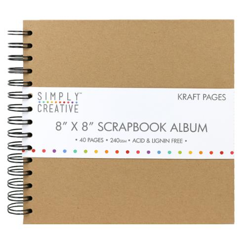 Simply Creative Album 8x8  Plain Kraft