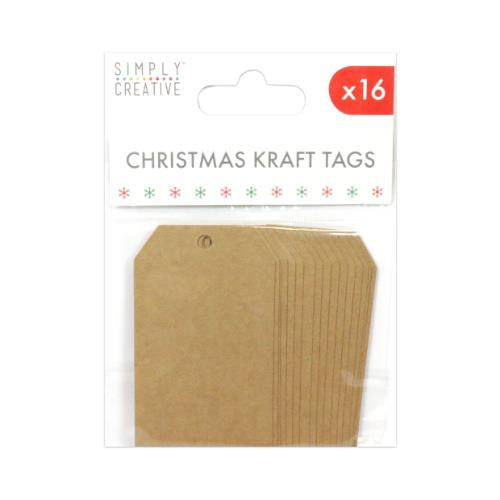 Simply Creative Christmas Kraft Tags